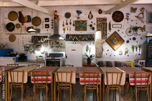Photo Chairs And Tables In Restaurant
