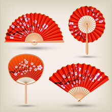 Japanese And Chinese Hand Fans...
