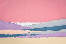 Landscape In Pink And Blue Ton...