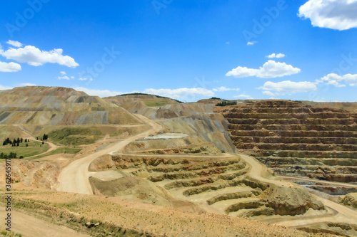 Foto Active gold mine near Cripple Creek, Colorado, USA