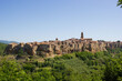 Skyline Of Pitigliano In Tuscany Italy Against Sky