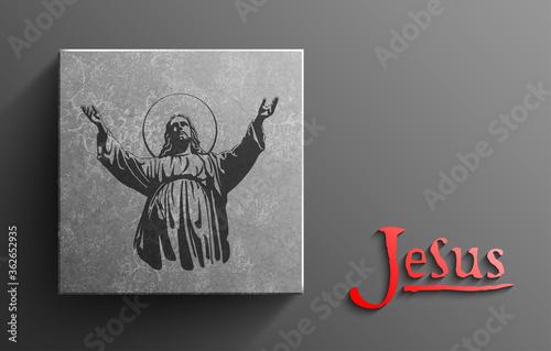 Photo Jesus Christ, Blessing, Christianity religion, bethlehem, paradise, Vector illus