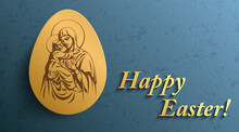 Happy Easter Background, Easte...