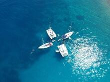 Sailing Boat In Adriatic Sea