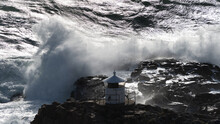 Massive Waves Hitting The Rock...