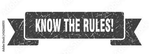 Obraz na plátně know the rules ribbon