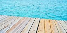 Pier At Beach In Caribbean Sea