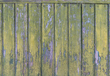 An Old Wooden Wall Painted At ...