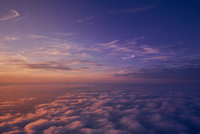 Scenic View Of Cloudscape Against Sky At Sunset