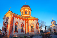 Noul Neamt Orthodox Monastery In Village Chitcani From Moldova . Medieval Church And Chapel