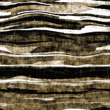 Seamless distressed sepia stripe texture background. Worn mottled woven linen pattern. Blotched aged worn patina textile fabric  Ragged old vintage farmhouse stain all over print  - 362700160