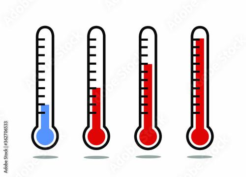 Fototapeta Set of thermometers vector