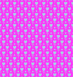Leinwanddruck Bild - Simple flower with circle seamless repeat pattern background