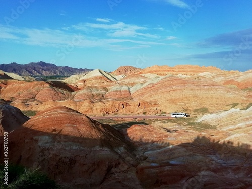 Fototapety, obrazy: Scenic View Of Rock Formation Against Sky