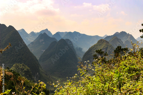 Fotomural Scenic View Of Mountains Against Sky