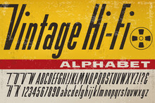 An Alphabet In The Style Of Early Stereo Hi-Fi Product Packaging From The 1950s And 1960s