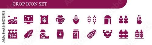 Fotografía Modern Simple Set of crop Vector filled Icons