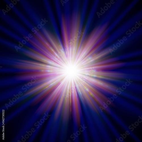 Fotografie, Obraz カラフルな放射光CG
