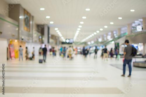 People Walking In Mall Fototapeta