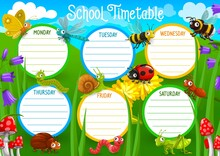 School Timetable With Insects ...
