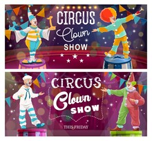 Clowns Comedy Show On Big Top ...