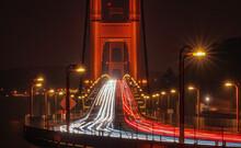 Light Trails On The Golden Gate Bridge