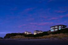 Luxury Homes Overlooking The Beach In Bandon, Oregon, USA