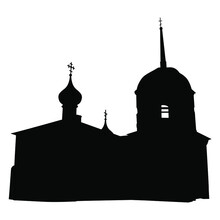 Silhouette Of Russian Orthodox...