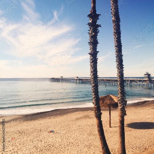 Fotografia, Obraz Scenic View Of Beach Against Sky