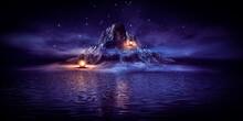 Fantasy Night Landscape Seasca...