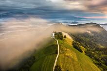 Jamnik, Slovenia - Aerial Dron...