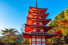 Japan. Buddhist Pagoda In The ...