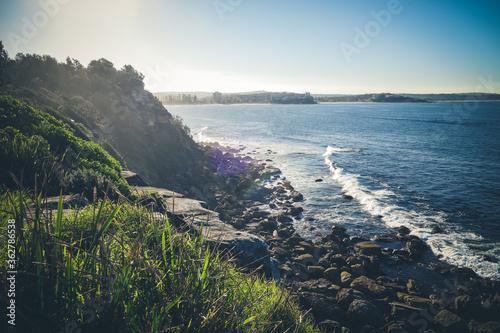 Manly Beach coastal cliffs, Sydney, Australia - 362786538