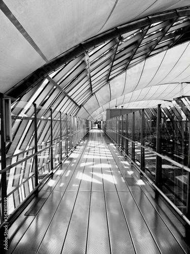 View Pf Empty Corridor At Railway Station Wallpaper Mural