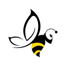 Logo Insect Bee Icon Vector