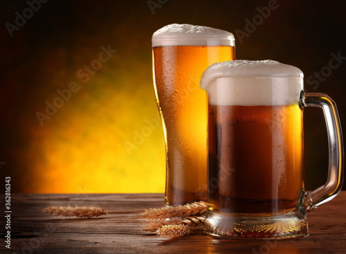 Close-up Of Beer Mugs On Table © kim thoa vo/EyeEm
