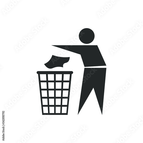 Fototapety, obrazy: Recycling trash icon symbol. Recycle garbage waste logo sign. Vector illustration image. Isolated on white background.