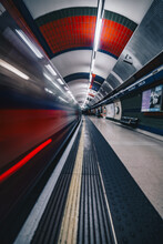 Blurred Motion Of Train At Ill...