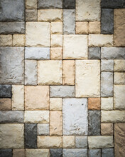Abtract Sandstone Brick Wall Texture Background.