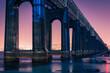 Leinwandbild Motiv View Of Bridge Over River Against Sky
