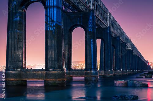 Fototapeta View Of Bridge Over River Against Sky