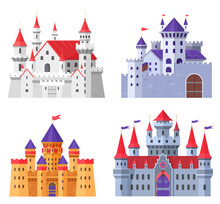 Medieval Fort Castle Vector Il...