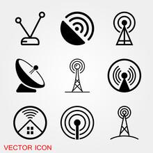 Antenna Icon. Radar Satellite ...