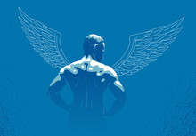 Winged Angel With Muscular Str...