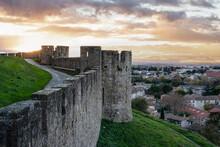 Vista Del Castello E Città Di...