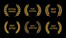 Film Awards. Gold Award Wreath...