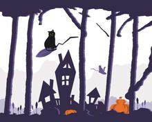Happy Halloween Banner. Backgr...
