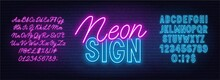 Neon Duo Pink And Blue Font. B...