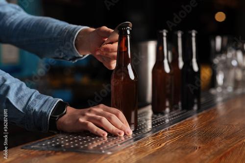 Drinks in trendy pub Fotobehang