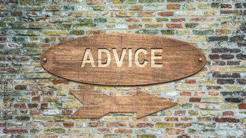 Obraz na plátně Street Sign to Advice